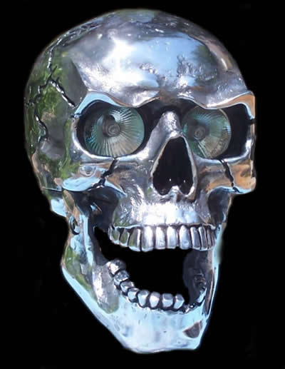 SK-9955-100/150-POL Skull Headlight. $775+shipping+handling