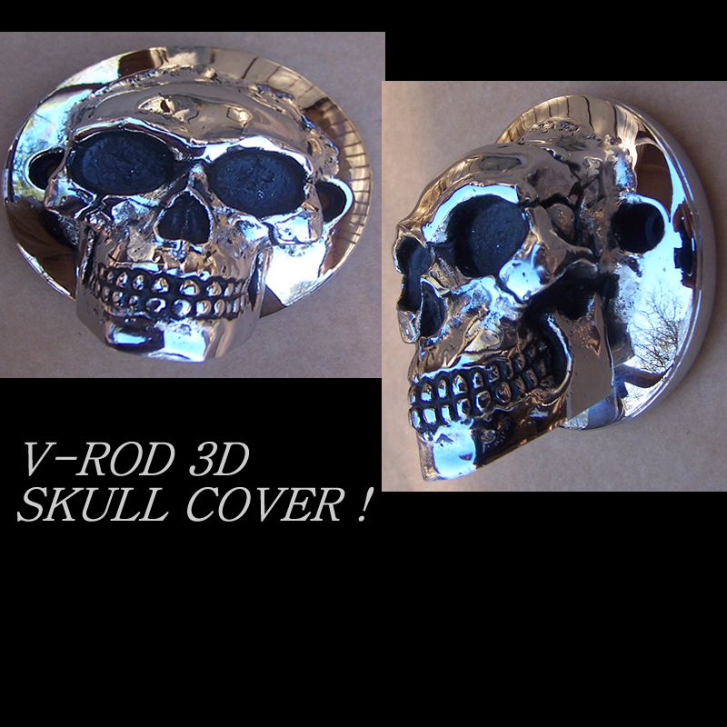 V-ROD 3D SKULL TIMING COVER