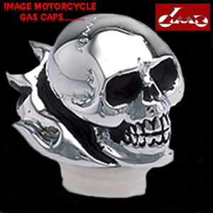 Skull and Flame Gas Cap $125.00