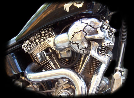 NEW SKULL RAM AIR INTAKE